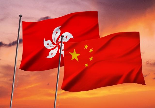 香港と中国の国旗