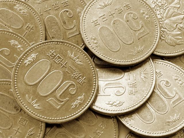 たくさんの500円硬貨