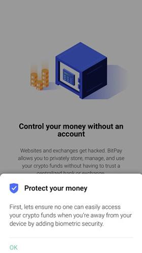 bitpayのOKボタン